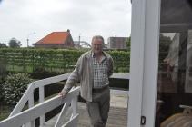 Geert, de  duivenspotter en altijd op post.